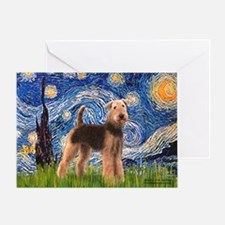 Starry Night - Airedale #6 Greeting Card