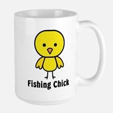 Fishing Chick Mugs