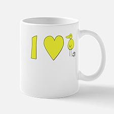 I Love Canaries Mugs