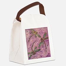 Dragonflies Pink Fizz Canvas Lunch Bag