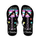 75th birthday personalize Flip Flops