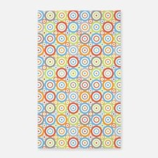 Abstract Circles Rpt Ptn Col/Greys Area Rug