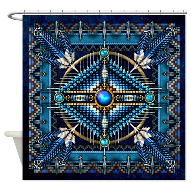 Native American Style Tapestry 3 Shower Curtain By