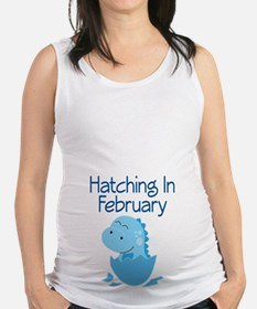 Hatching In February boy Maternity Tank Top