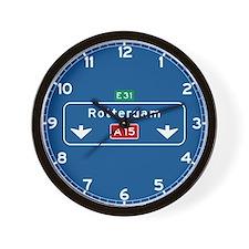 Rotterdam Roadmarker (NL) Wall Clock