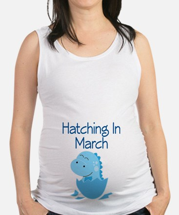 Hatching In March boy Maternity Tank Top