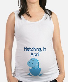 Hatching In April boy Maternity Tank Top
