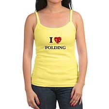 I love Folding Tank Top