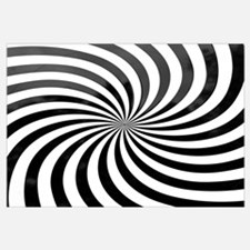 Optical Illusion, black and white swirl