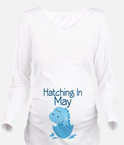 Hatching In May baby boy Long Sleeve Maternity T-S