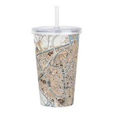 Vintage Map of Ghent B Acrylic Double-wall Tumbler