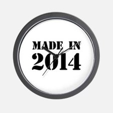 Made in 2014 Wall Clock