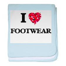 I love Footwear baby blanket