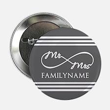 "Mr. Mrs. Infinity Gray Str 2.25"" Button (10 pack)"