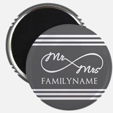 "Mr. Mrs. Infinity Gray Str 2.25"" Magnet (10 pack)"