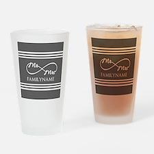 Mr. Mrs. Infinity Gray Stripes Per Drinking Glass