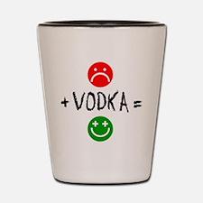Plus Vodka Happy Drinkware Shot Glass