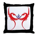 Square and Red Dragons Throw Pillow