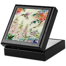 hummingbirds and flowers Keepsake Box