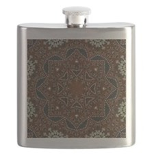 tooled leather western country  Flask