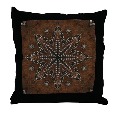 Western Throw Pillows Leather : tooled leather western country Throw Pillow by listing-store-62325139