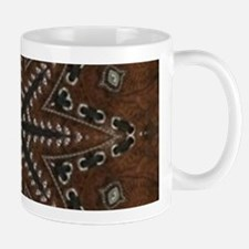 brown leather western country Mugs