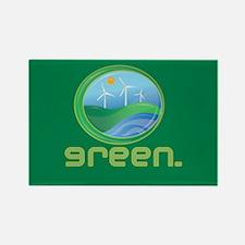 Green Energy Rectangle Magnet