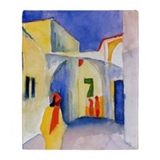 Lane View by Franz Marc Throw Blanket