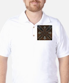 tooled leather western country Golf Shirt
