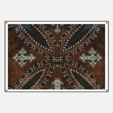 tooled leather western country Banner