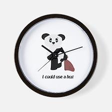 Hug A Panda Wall Clock