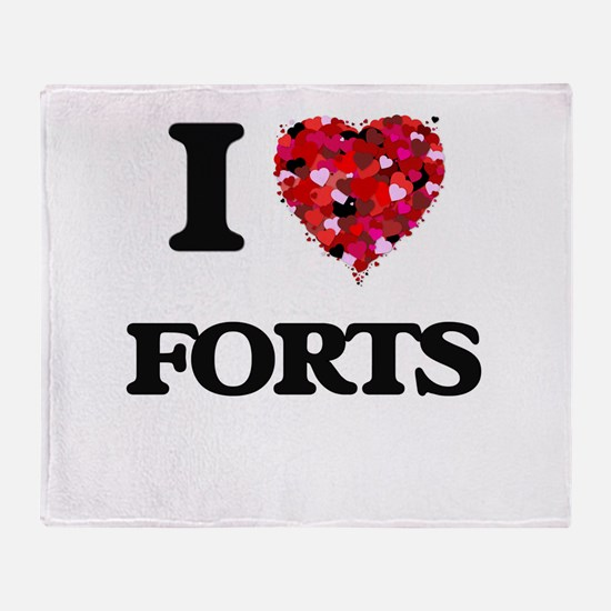 I love Forts Throw Blanket