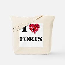 I love Forts Tote Bag