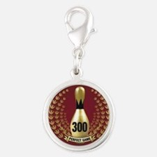 BOWLING - 300 - PERFECT GAME Silver Round Charm