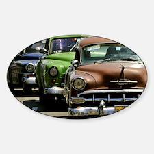 Unique Cuba cars Sticker (Oval)