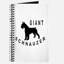Giant Schnauzer Bold Text Journal