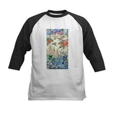 hummingbirds and flowers Baseball Jersey