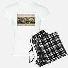 Vintage Map of The Gettysbu pajamas