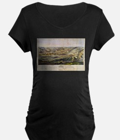 Vintage Map of The Gettysburg Ba Maternity T-Shirt