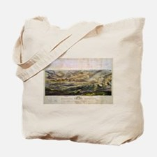 Vintage Map of The Gettysburg Battlefield Tote Bag