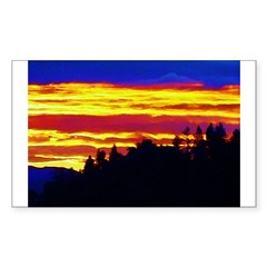 AFTM Tahoe Sunrise4 Rectangle Decal