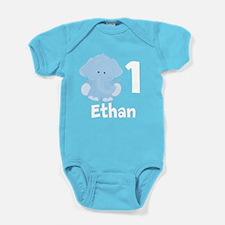 Elephant Birthday Baby Bodysuit