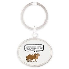 HUMP DAY - IF I HEAR, UH-HO, GUESS W Oval Keychain