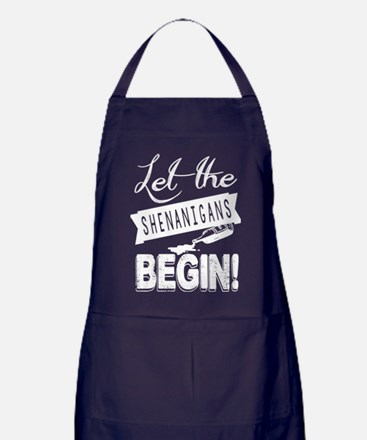 Let The Shenanigans Begin Apron (dark)