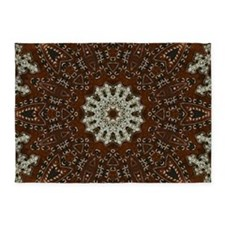 western leather pattern 5'x7'Area Rug