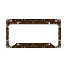 western leather pattern License Plate Holder