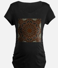 tooled leather western country Maternity T-Shirt