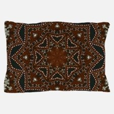 tooled leather western country Pillow Case
