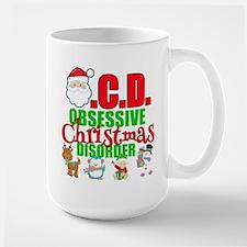 Obsessive Christmas Disorder Large Mug