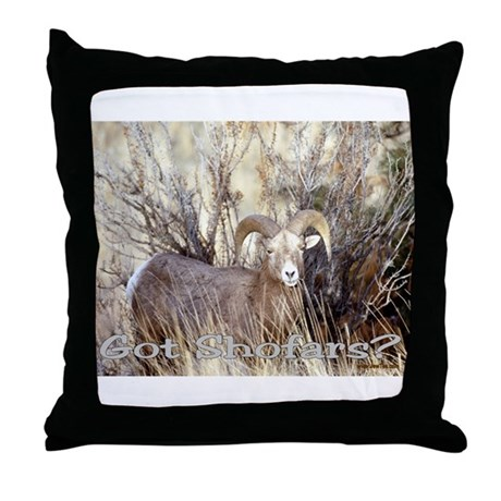 Rosh Hashanah Got Shofars Throw Pillow